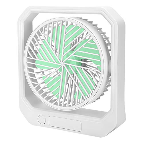 SODIAL Ventilador USB de Escritorio RefrigeracióN PortáTil Ventilador de 3 Velocidades con áNgulo Ajustable de RotacióN 360 para Oficina Hogar Viajes Verde