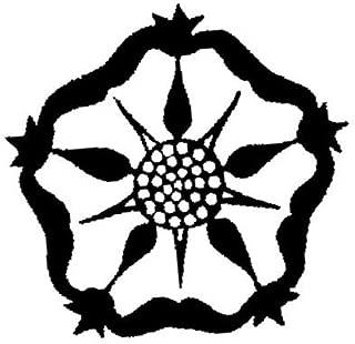 1 inch Tudor Rose rubber stamp - 1081