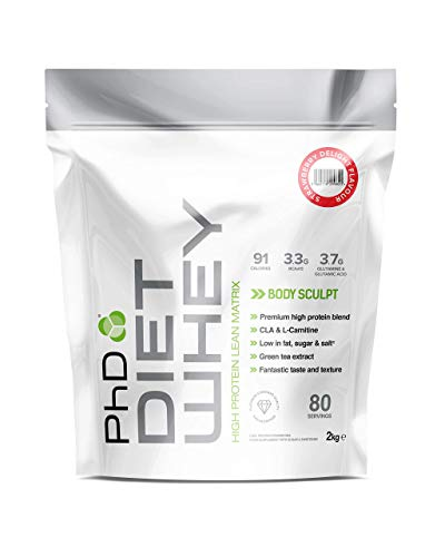 PhD Nutrition Diet Whey Protein Powder, Strawberry Delight, 2 Kg