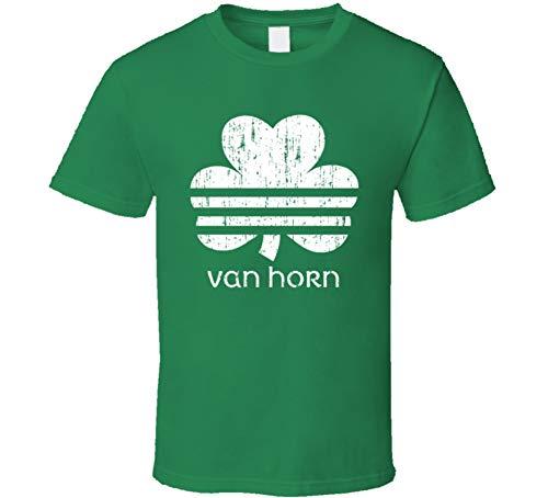 Van Horn Irish Shamrock Parody St Patrick's Day Family Reunion Distressed T Shirt