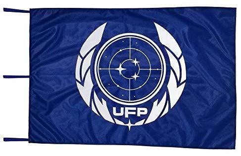 SAVENT Official Star Trek Discovery UFP Blue Flag (100x150cm)
