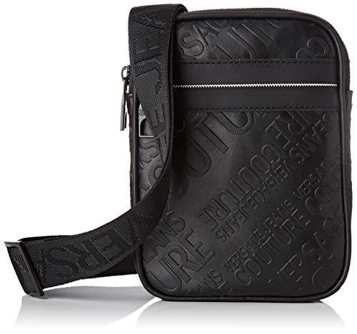 Versace Jeans Couture Herren Bag Schultertasche, Schwarz (Nero), 0,5x24x21,5 centimeters
