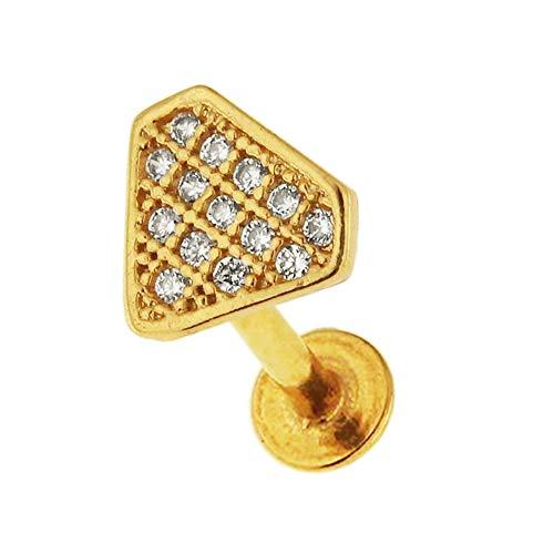 Micro instelling CZ steen diamantvorm 16 gauge chirurgisch staal helix tragus oorpiercing sieraden