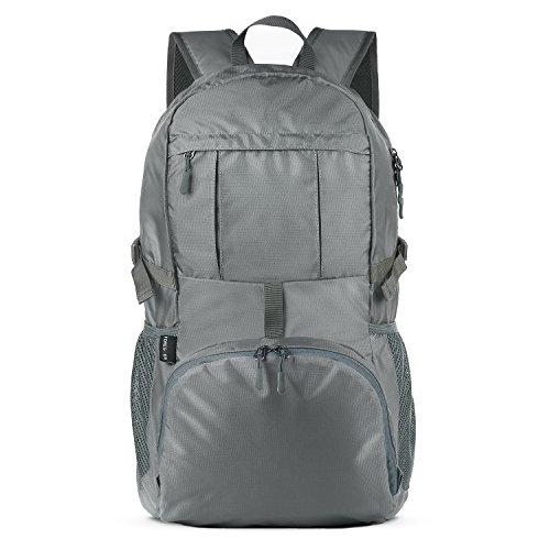 Foregoer 30l Ultra Zaino Leggero Idrorepellente Nylon Pieghevole Daypack per Viaggio Hiking - Grigio