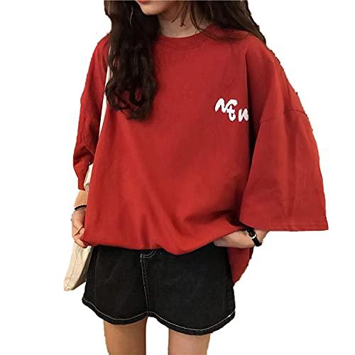 shirts Lazy Style CEC Loose Fitting manga corta T para las mujeres 2020 Nueva moda estudiante en Corea del Sur