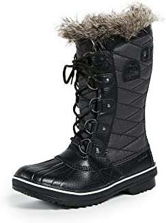SOREL Women s Tofino II Waterproof Insulated Winter Boot with Faux Fur Cuff Black Stone 9 5 product image