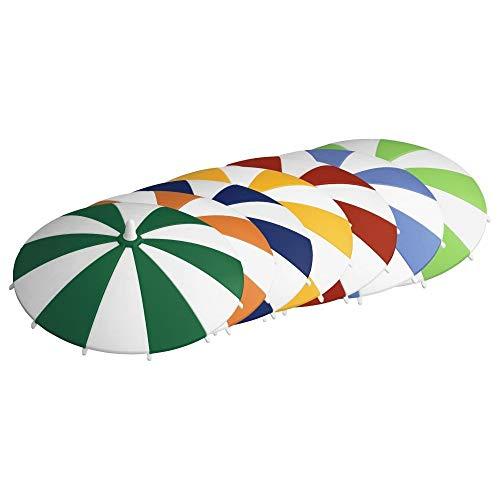 homeXpert 3065170706 Glasabdeckung Trinkglas-Deckel Schirmchen, Ø 11,5 cm (Farbe zufällig), Stück:8 Stück