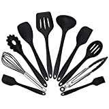WANGJ Kitchen Utensils Set- Red Cooking Utensils 10 pcs Heat-Resistant Silicone Kitchen Cooking Tools Baking Cookware Gadgets Spatula Spoon Set -Cooking Tool Set for Non-Stick Pan (Color : B)