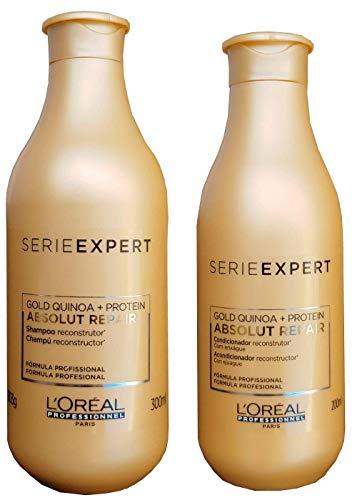 Kit Loreal Absolut Repair Gold Quinoa Shampoo Condicionador