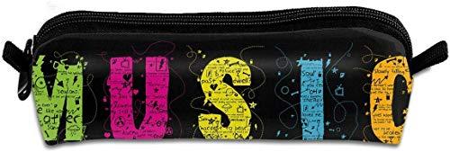 Pencil Case Music Panels Kompilierte Stifttasche mit Reißverschluss Kosmetische Make-up-Taschen für farbige Aquarellstifte