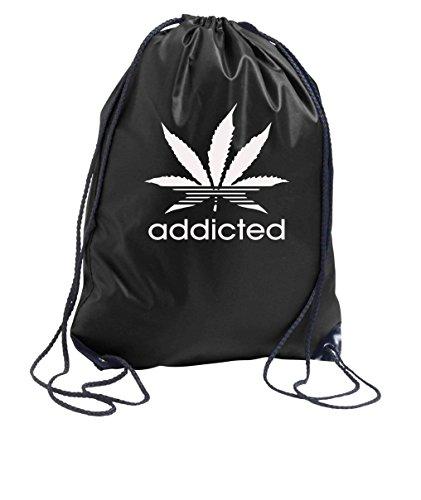 Youth Designz Bolsa de deporte bolsa de deporte en muchos motivos en color negro, color ADDICTED-Weiß, tamaño Talla única