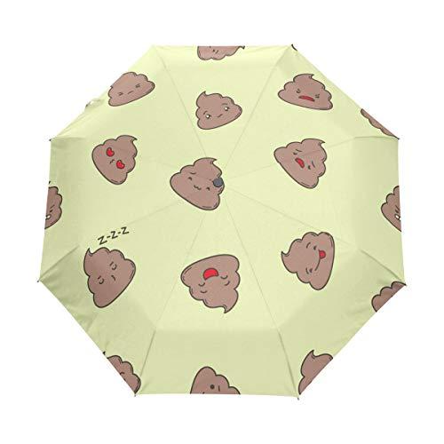 Niedlicher Cartoon-Kot-Regenschirm, kompakter Reiseschirm, Outdoor-Regen-Sonnenschirm, faltbar, winddicht, verstärkter Schirm, UV-Schutz, ergonomischer Griff, automatisches Öffnen/Schließen