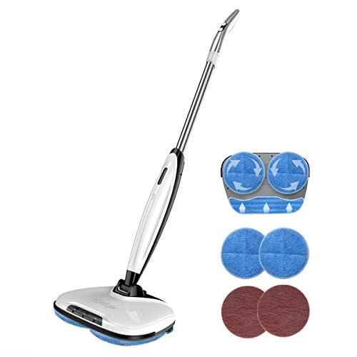 Comfyer Swift Cordless Electric Spin Mop, Floor Cleaner Mop, 2 in 1 Power Scrubber Brush & Polisher...