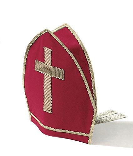 Kostüm Zubehör Bischof Nikolaus Bischofsmütze Mitra Samt mit Bändern
