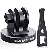 <span class='highlight'><span class='highlight'>Sametop</span></span> Aluminum Tripod Mount Adapter Compatible with Gopro Hero 8, 7, 6, 5, 4, Session, 3 , 3, 2, 1, Hero (2018), Fusion, DJI Osmo Action Cameras
