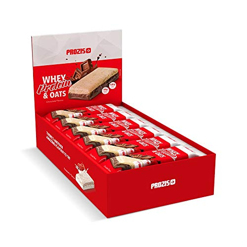 Prozis Whey Protein & Oats, Sabor Chocolate - 12 Unidades de 80 g