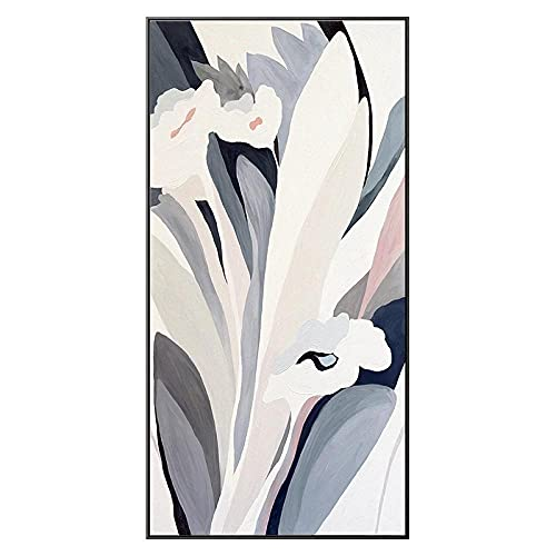 DIY 5D Kit de Pintura de Diamante por Números, Round drill Resumen De Flores 40x80cm Diamond Painting Bordado Crystal Rhinestone punto de Cruz Lienzo Manualidades Vertical Decoración Pared Hogar