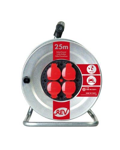 REV Ritter 0088622 Stahlblech Kabeltrommel 25 m H07 RN 3G1,5