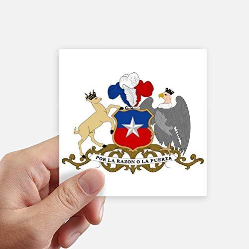 DIYthinker Chile Emblema Nacional País Square Stickers 10cm Pared Maleta portátil Motobike Decal 8pcs 10cm x 10cm