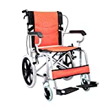Lightweight Wheelchair With Reversible Leg Rests, Easy To Transfer, With Handle Strap And