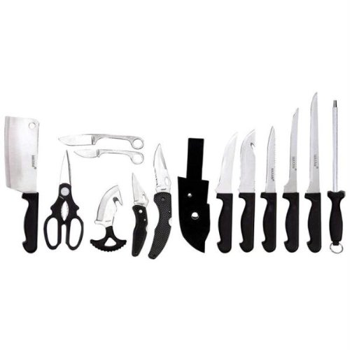 BF Systems SKCAM15 Maxam 15 Piece Outdoorsmans Set with Medium Fillet Knife Cleaver