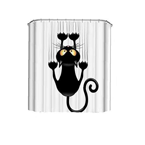 Heall Modelo del Gato Cortina de Ducha de Secado rápido del baño Cortina Espesa el baño de Ducha Cortinas decoración del hogar