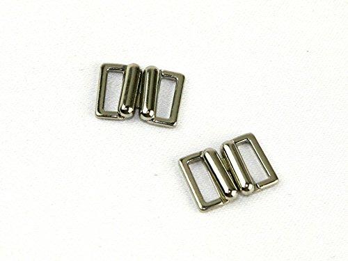 13 mm boucle en métal fermeture Fermeture – Argenté (cm)