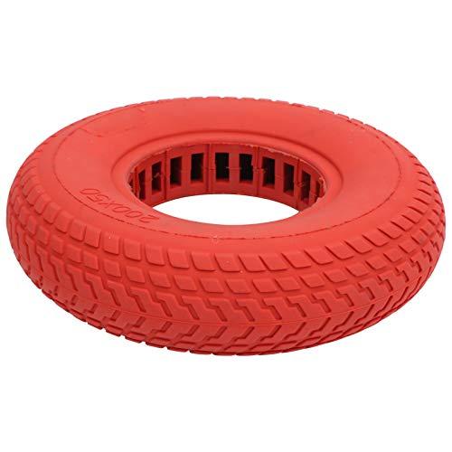 RANNYY Neumático para Patinete eléctrico, 200x50 mm Neumático sólido a Prueba de explosiones Neumático de Goma Amortiguación Hueca para Patinete eléctrico(Rojo)