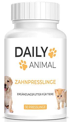 PowerSupps Daily Animal Zahnpflegepresslinge zur Zahnpflege für Hunde und Katzen - Mundgeruch, Zahnstein, Zahnreinigung, Zahnverfärbung, Zahnfleischentzündung - empfindliche Zähne