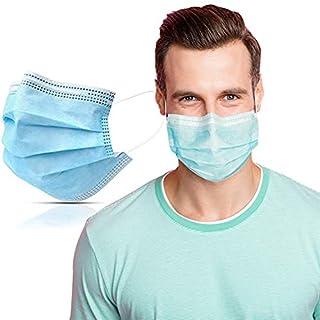 scheda symtex 50 pezzi mascherine chirurgiche per uso medico, certificate ce tipo iir la normativa europea en 14683, mascherina 3 strati con elastici, maschera protettiva viso mascherina