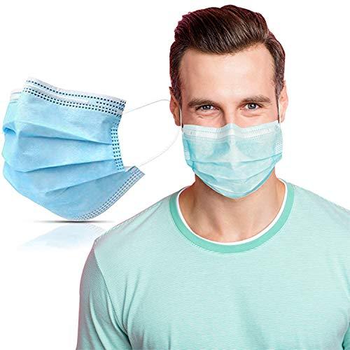 SYMTEX 50 Stück Medizinisch Chirurgische Type IIR Norm EN 14683 zertifizierte Mundschutzmasken OP Masken 3-lagig Mundschutz Gesichtsmaske Einwegmaske mund und nasenschutz