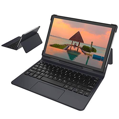Blackview Tastiera per Tablet Tab 8 Tab 8E, tastiera wireless da 10,1 pollici, sottile copertura protettiva magnetica staccabile pieghevole 2-in-1-Nero