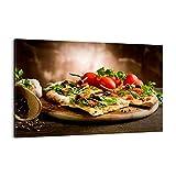Bild auf Leinwand - Leinwandbild - Pizza Vegetarier Italien