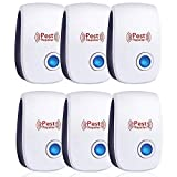 Ultrasonic Pest Repeller 6 Packs,2021 Newest Ultrasonic Indoor Pest Repellent, Electronic Plug-in Insect Repellent,Pest Control for Mosquito, Mouse, Rats,Spider,Ant, Cockroaches, Bug,Insects