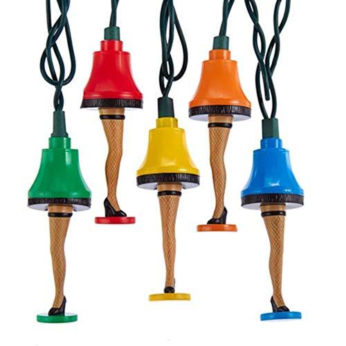 Kurt Adler A Christmas Story Multi-Color Leg Lamp Light Set