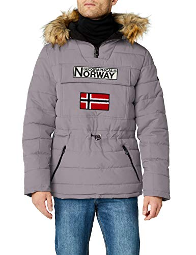 Geographical Norway Casimire, Parka para Hombre, Gris (Light Grey), Large (Tamaño del fabricante:L)