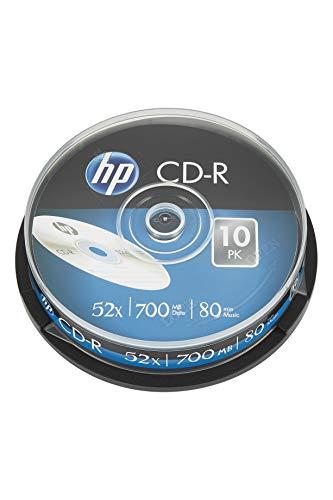 HP CD-R Rohlinge 700MB 52fach 10er Spindel