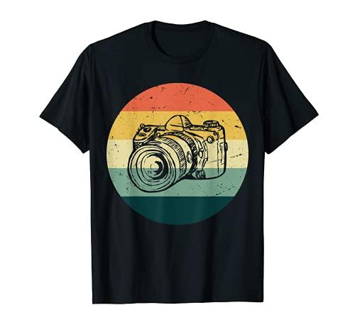 Fotógrafo de la cámara de la vendimia regalos estilo retro Camiseta