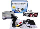 Caja de juegos clásica, mini consola de juegos retro con juegos 620 NE integrados con 2 controladores, regalo para niños, regalo de cumpleaños, infancia, AV