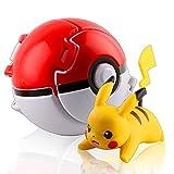 Esportic Poké Bolas Pokéball, Ball figuritas Poké Bolas Pokéball, Poké Bolas, Bola de Pokémon con Pokemon y Pokemon con Figuras Pokemon Toys para niños, Pokémon (Pikachu)