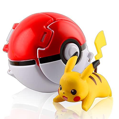 Esportic Poké Ball, Pokeball, Poké Ball, Jeux BouleJeu de Balle Action Figure Figure Toy Set pour Enfants (Pikachu)