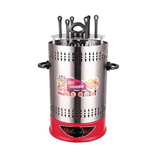 no brand Grill Rotatif Vertical, 1400W Timing Kebab Machine for Rotisserie Chicken, Kebab, Grill Fish, BBQ & Vegetables (6 Fourchette grillée / 8 Fourchette grillée / 10 Fourchette grillée)