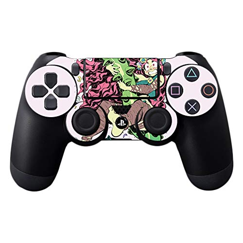 MightySkins Skin Compatible with Sony PS4 Controller - Plant Girl   Protective, Durable, and Unique Vinyl Decal wrap Cover   Easy to Apply, Remove, and Change Styles   Made in The USA