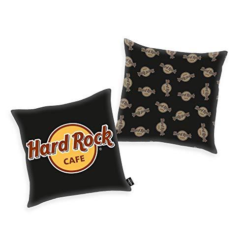 Hard Rock Cafe Kissen in schwarz ca. 40 x 40 cm aus 100% Polyester in Soft Velboa