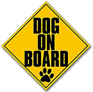 American Vinyl Singular Dog On Board Caution Sign Shaped Sticker (car Safety Safe paw)