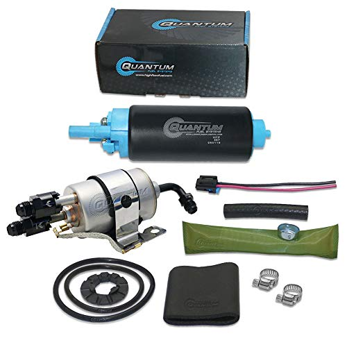 HFP-367-F2-AN8C Quantum TBI to LSX Swap Direct Fit Fuel Pump 58PSI (LM7 LR4 LQ4 LQ9 L33) w/Fuel Pressure Regulator/Filter + Fittings, Replacement for GM (1982-1995), Replaces EP381