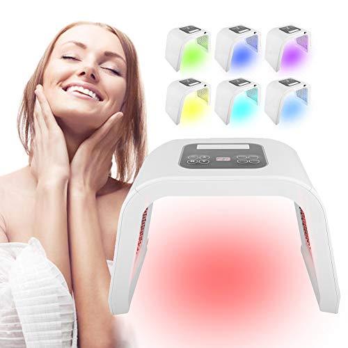 Acne behandelingsmachine, professionele schoonheidsinstallatie fotodynamische lampen gezichtstonings apparaat huid verjongende schoonheid badcurort uitrusting, 7 kleuren PDT LED, lichttherapie EU.