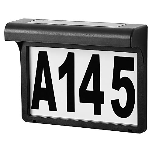 Solar Address Number, Solar House Number Light, Plastic...
