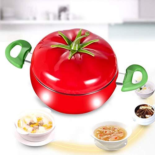 XKMY Yin Yang olla caliente forma de tomate olla sopa olla aluminio antiadherente olla de cocina Utensilios de cocina Utensilios de cocina ollas