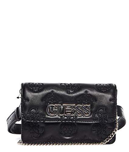 Luxury Fashion | Guess Dames HWSG7589800BLACK Zwart Leer Heuptas | Lente-zomer 20